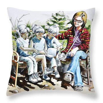 Lasting Pupils Throw Pillow