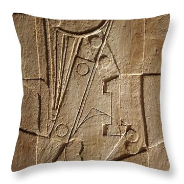 Sculptured Panel - Influenced By Picasso's Painting Having The Number 1 Throw Pillow