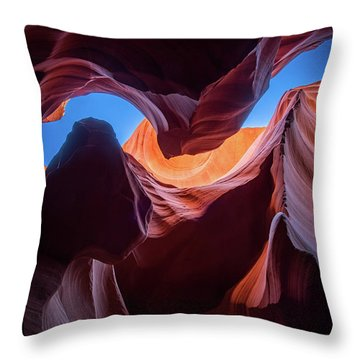 Sculptures Of Desert Throw Pillow