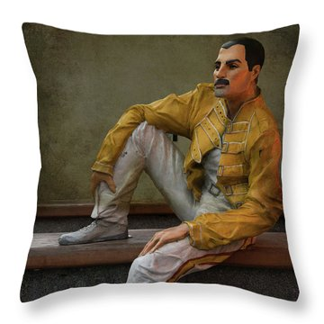 Sculptures Of Sankt Petersburg - Freddie Mercury Throw Pillow