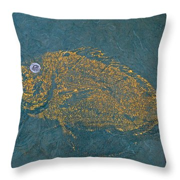 Scup / Porgie Shadow Throw Pillow