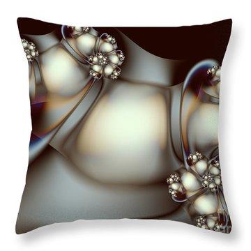 Throw Pillow featuring the digital art Sculpture by Karin Kuhlmann