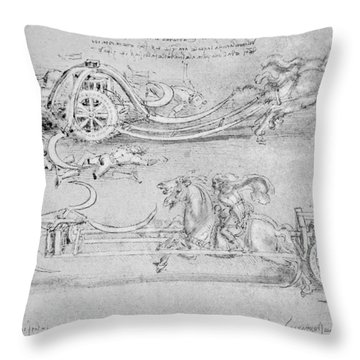 Scythed Chariot Throw Pillow