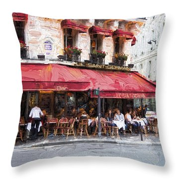 Le Saint Germain Throw Pillow