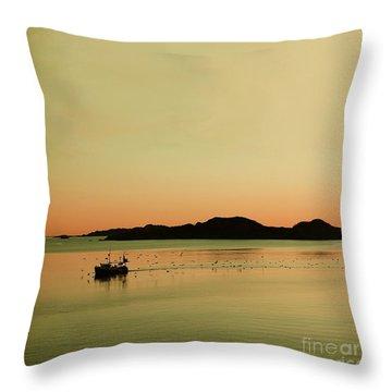 Sea After Sunset Throw Pillow