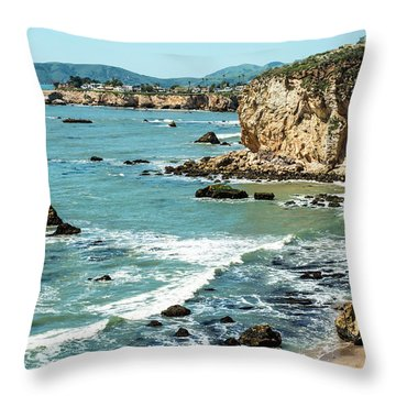 Sea And Cliffs Throw Pillow