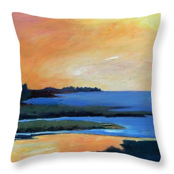 Throw Pillow featuring the painting Sea And Sky by Gary Coleman