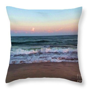 Throw Pillow featuring the photograph Sea And Sky by Roberta Byram