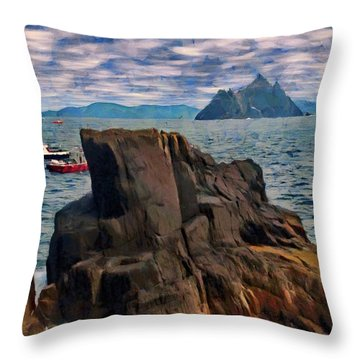 Sea And Stone Throw Pillow by Jeff Kolker