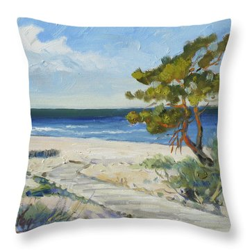 Sea Beach 6 - Baltic Throw Pillow