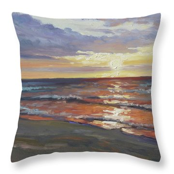 Sea Beach 8 - Baltic Sunset Throw Pillow