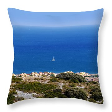 Sea Throw Pillow by Bernd Hau