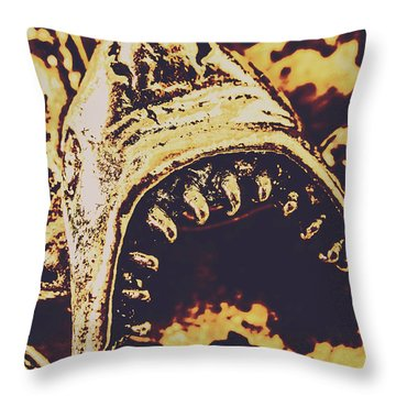 Sea Bites Throw Pillow