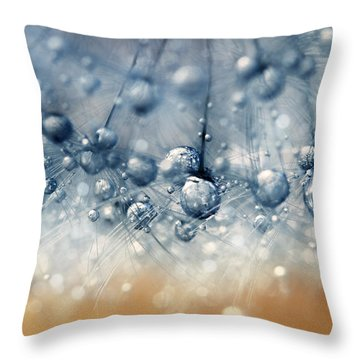 Sea Blue Dandy Throw Pillow by Sharon Johnstone