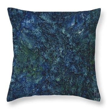 Sea Blue, Sea Green Throw Pillow