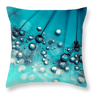 Sea Blue Shower Throw Pillow by Sharon Johnstone