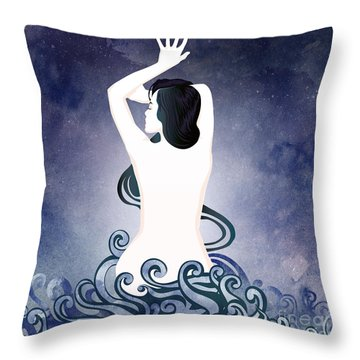 Sea Born Throw Pillow