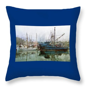 Sea Breeze And Lady Law Throw Pillow