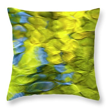 Sea Breeze Mosaic Abstract Throw Pillow