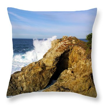 Throw Pillow featuring the photograph Sea Cave Big Sur by Floyd Snyder