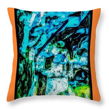 Sea Changes Throw Pillow by William Wyckoff