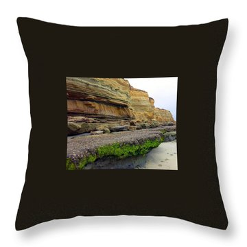 Sea Cliff Throw Pillow by Betty Buller Whitehead