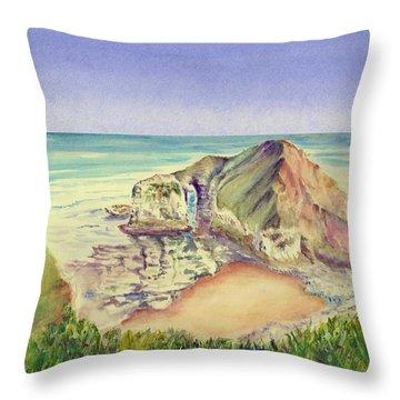 Sea Cliff Throw Pillow