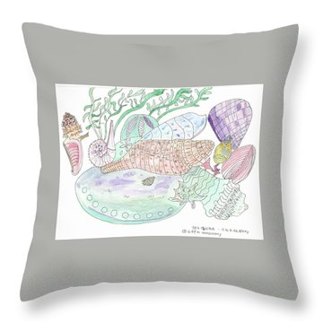 Sea Cluster Throw Pillow