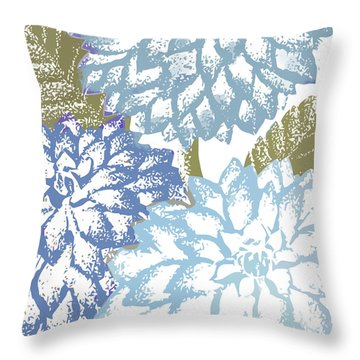 Sea Dahlias I Throw Pillow