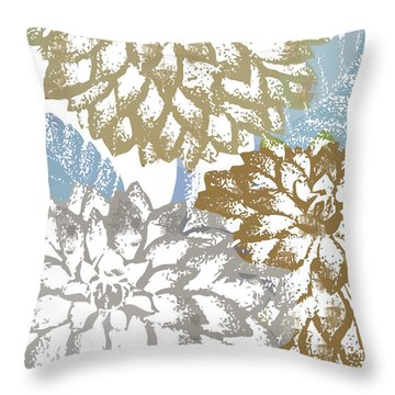 Sea Dahlias II Throw Pillow