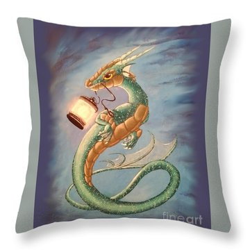 Sea Dragon And Lantern Throw Pillow