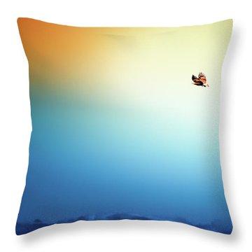 Sea Eagle On High Throw Pillow