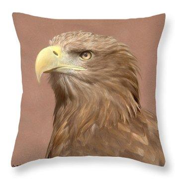 Sea Eagle Throw Pillow by Roy McPeak