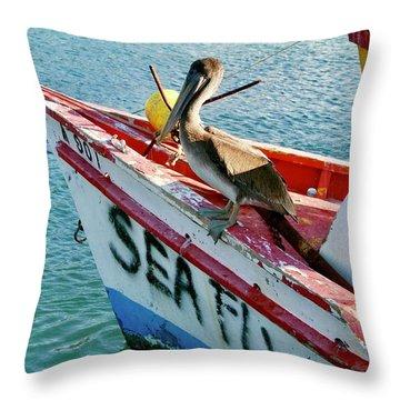 Sea Fly 1, Aruba Throw Pillow
