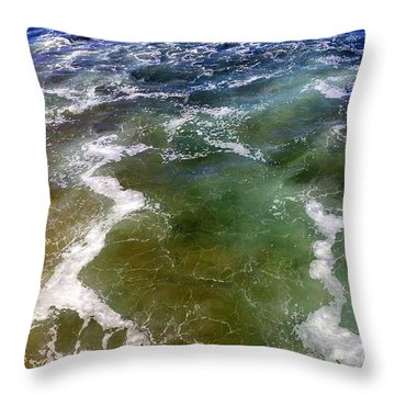 Artistic Ocean Photo Throw Pillow