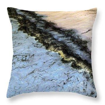 Sea Foam Pit Throw Pillow