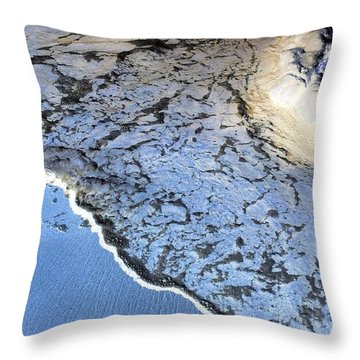 Sea Foam Shoreline Throw Pillow