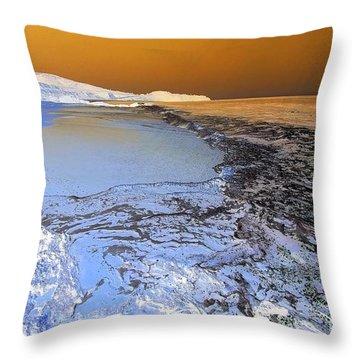 Sea Foam World Throw Pillow