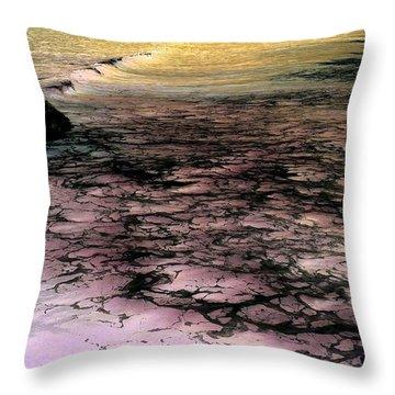 Sea Foam Waves Throw Pillow