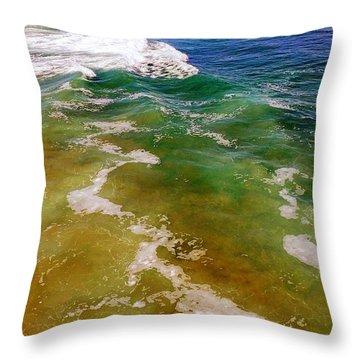Colorful Ocean Photo Throw Pillow