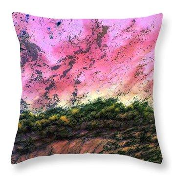 Sea Foam Art Throw Pillow