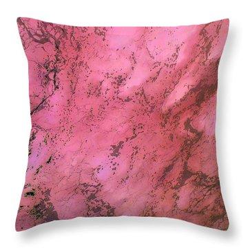 Sea Foam In Pink Throw Pillow