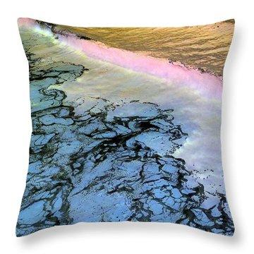 Sea Foam Pink Throw Pillow