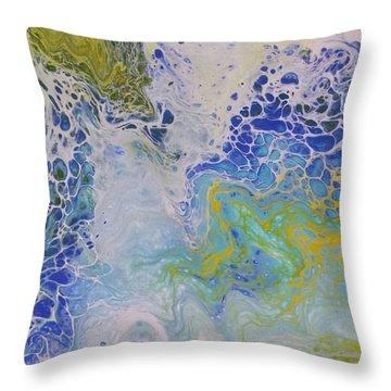 Sea Foam Throw Pillow