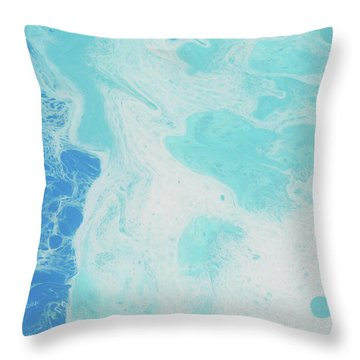 Throw Pillow featuring the painting Sea Foam by Nikki Marie Smith