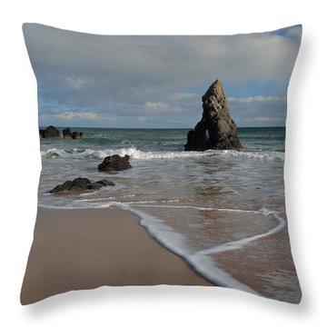 Sea Foam On Sango Bay Throw Pillow