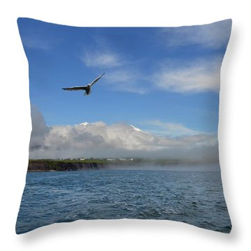 Throw Pillow featuring the photograph Sea Fog by Barbara Walsh