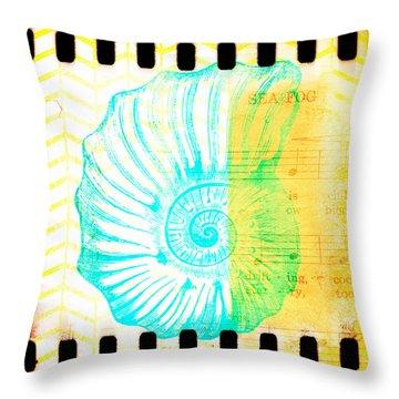 Sea Fog Nautilus Throw Pillow
