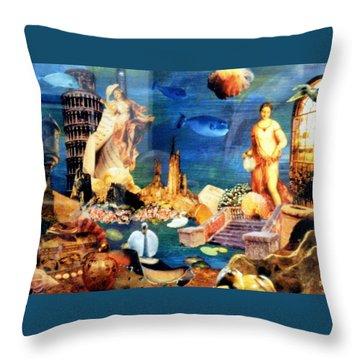 Sea Garden Throw Pillow by Gail Kirtz