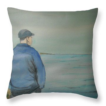 Sea Gaze Throw Pillow by Anthony Ross